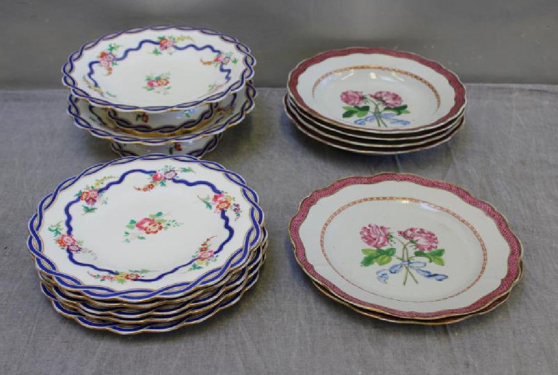 Lot of Assorted Porcelain Plates ,Tazzas and a - 2