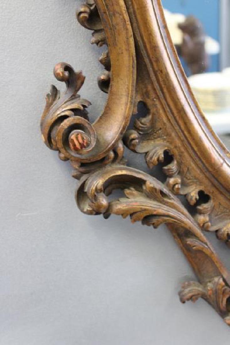 Antique Rococo Carved Giltwood Italian Mirror. - 4