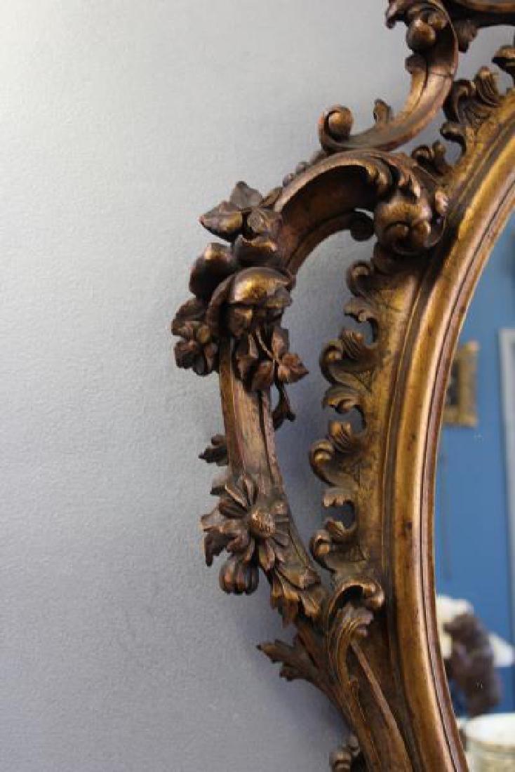 Antique Rococo Carved Giltwood Italian Mirror. - 5