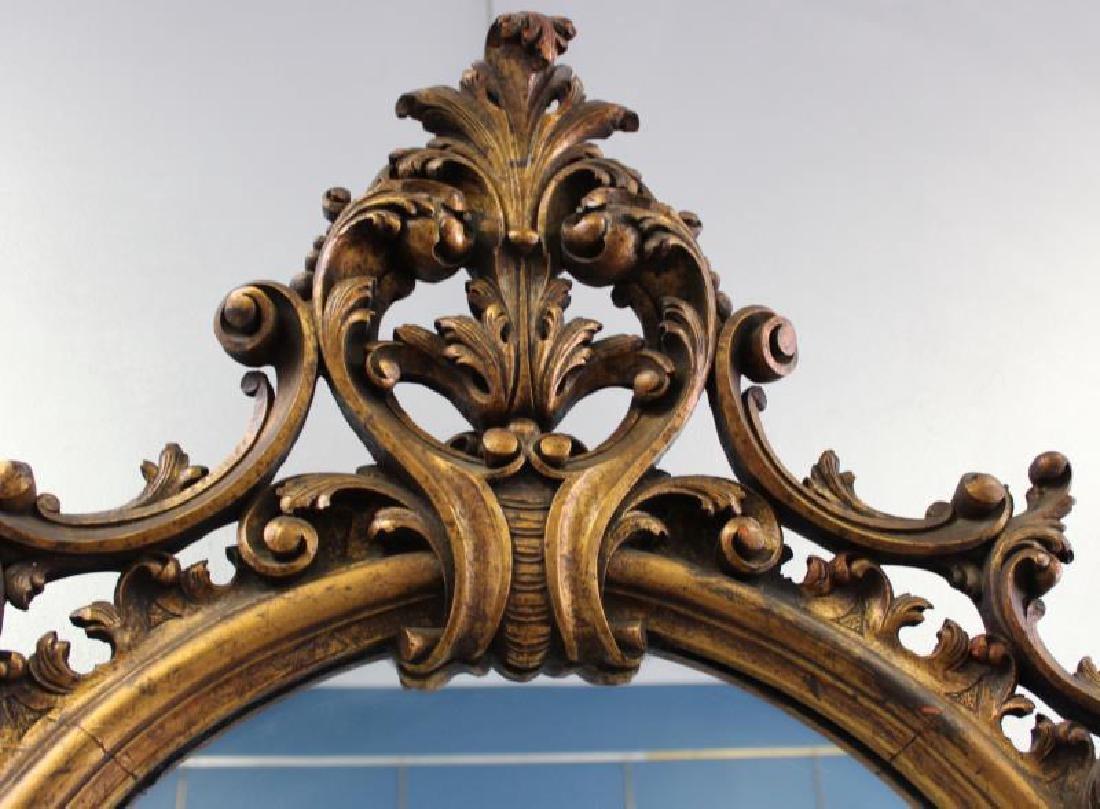 Antique Rococo Carved Giltwood Italian Mirror. - 6