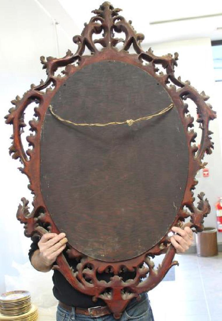 Antique Rococo Carved Giltwood Italian Mirror. - 7