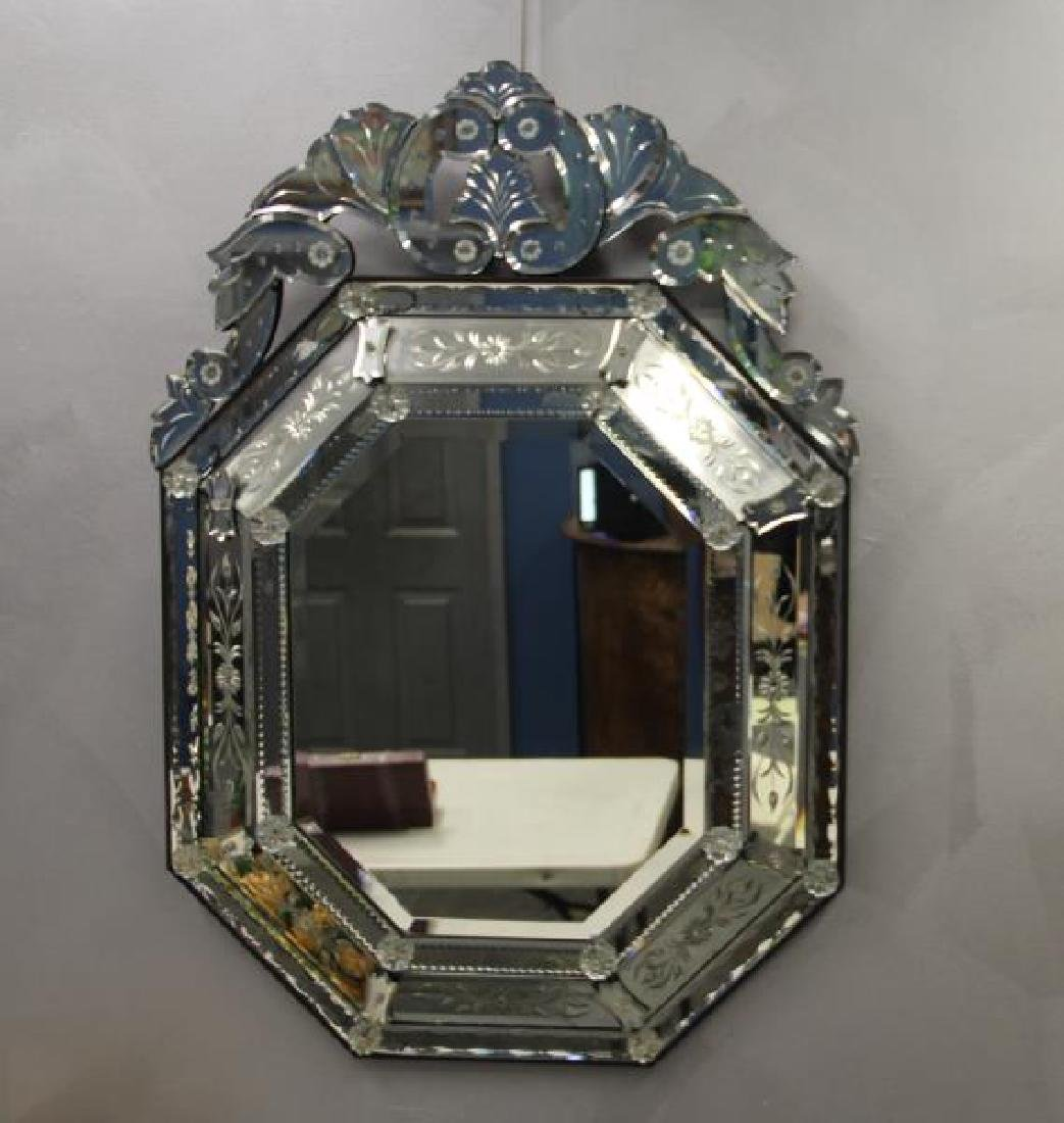 Vintage and Fine Quality  Venetian Glass Mirror