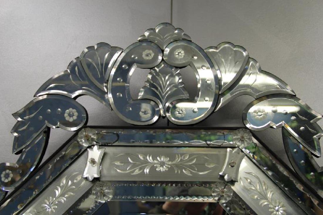 Vintage and Fine Quality  Venetian Glass Mirror - 2