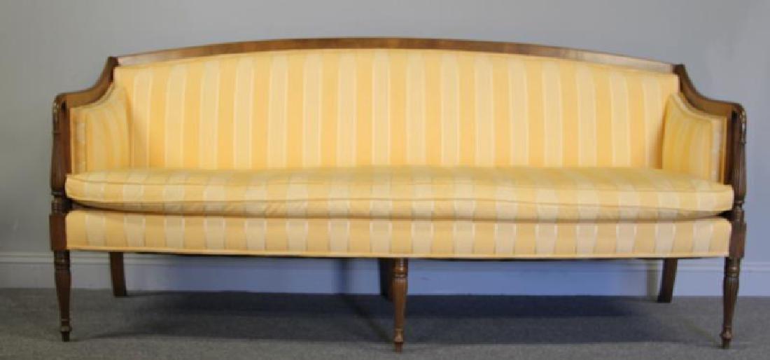 Sheraton Style Down Filled Sofa.
