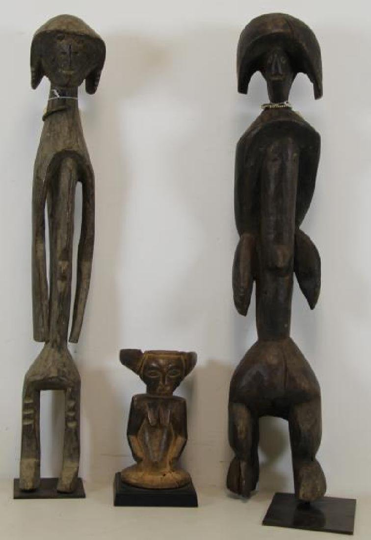 3 Antique Carved Tribal / African Figures.