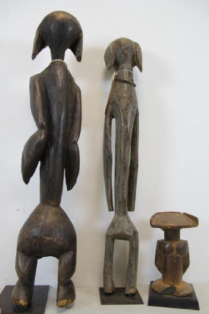 3 Antique Carved Tribal / African Figures. - 2