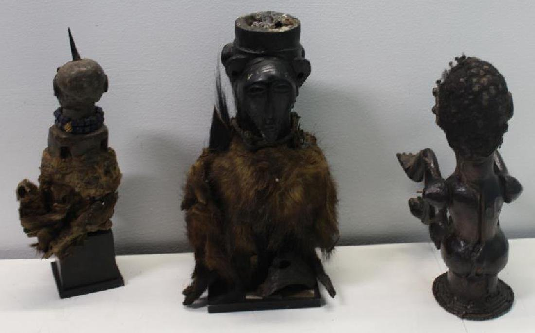 Lot of 3 Antique Tribal / African Figures. - 2