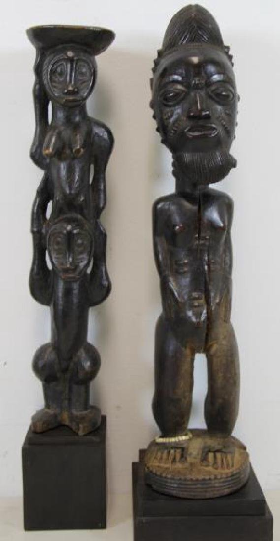Lot of 5 Antique Tribal / African Wood Carvings. - 2