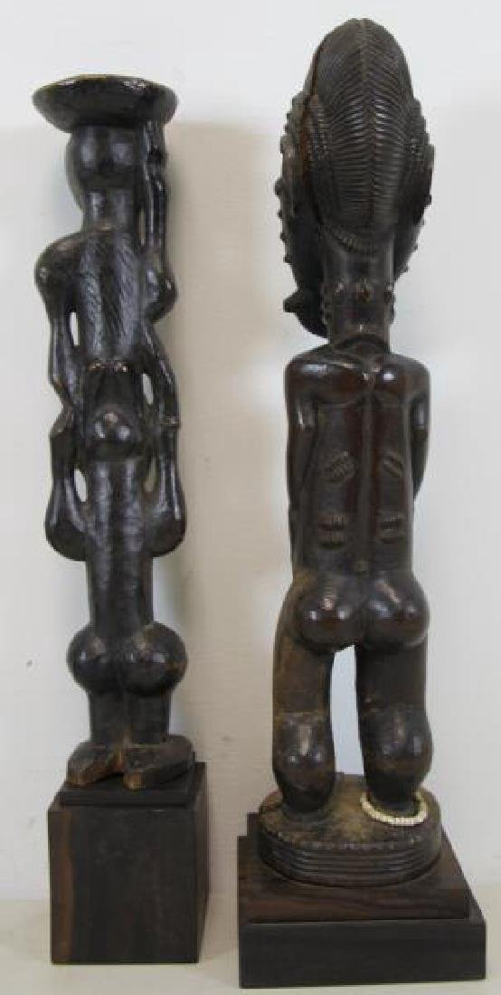 Lot of 5 Antique Tribal / African Wood Carvings. - 3