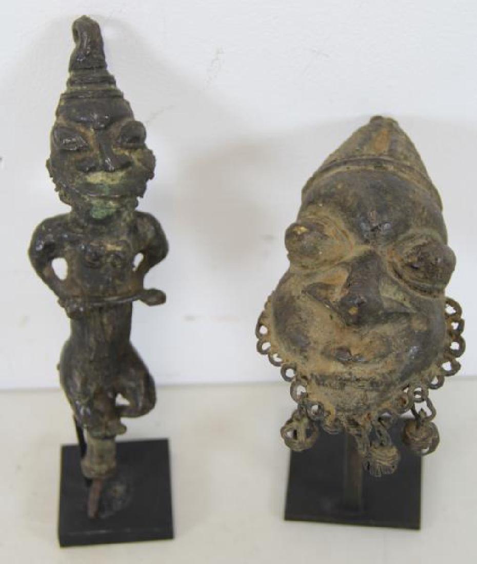 2 Antique Benin Style Bronzes.