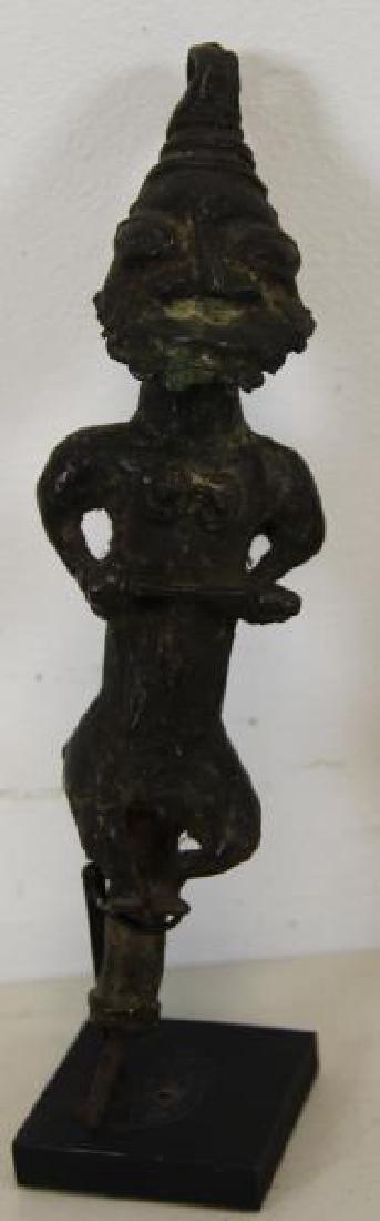 2 Antique Benin Style Bronzes. - 2