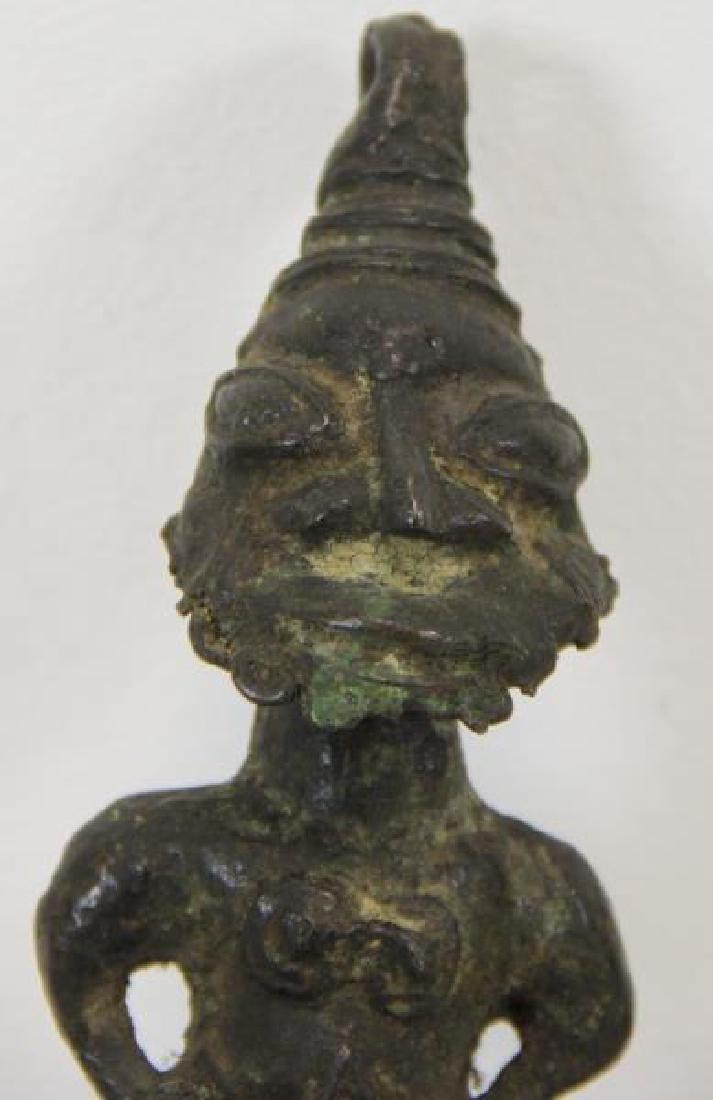 2 Antique Benin Style Bronzes. - 3