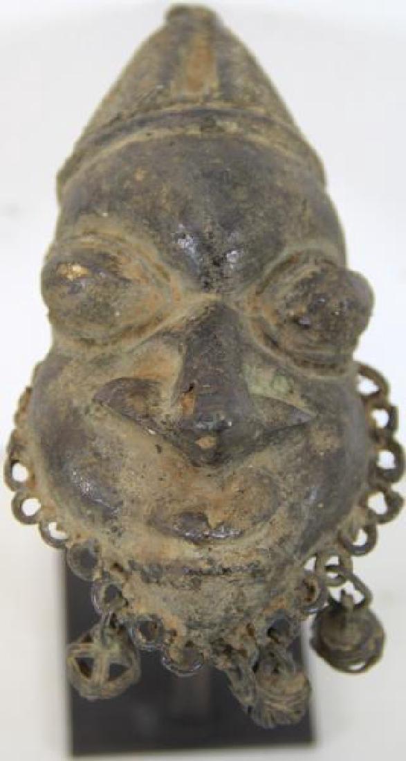 2 Antique Benin Style Bronzes. - 6