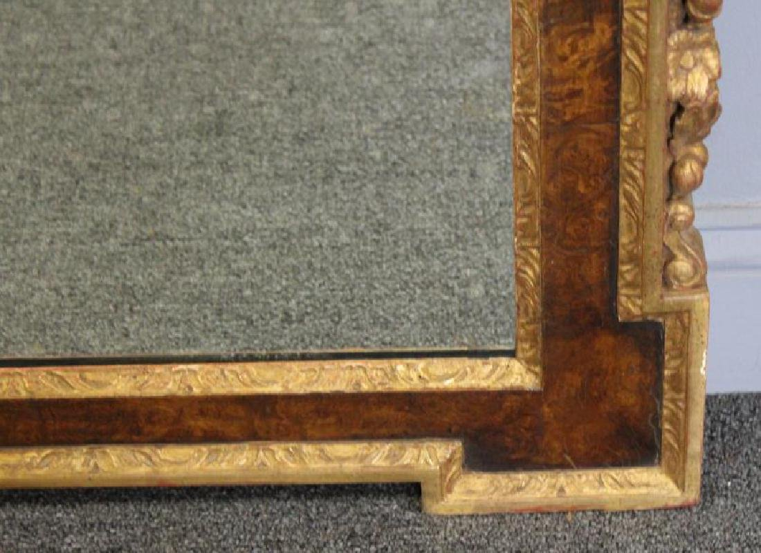 Burl Walnut and Gilt Decorated Over Mantel - 4