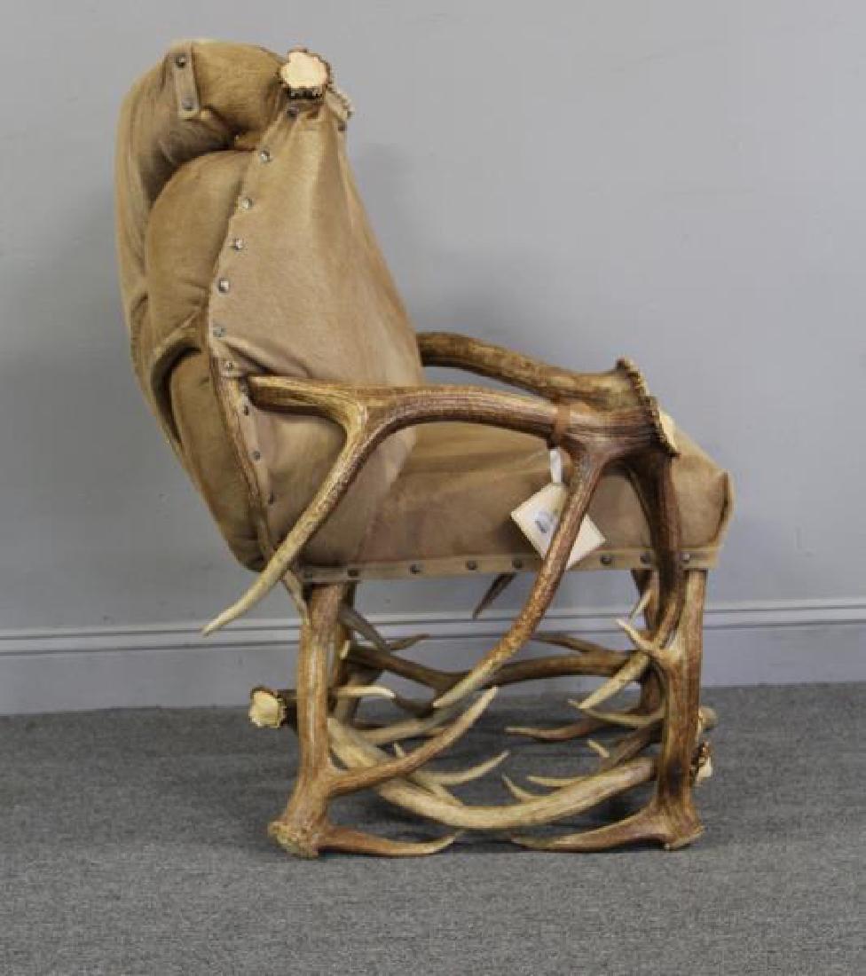 RINFRET. Custom Antler Chair with Hide - 2