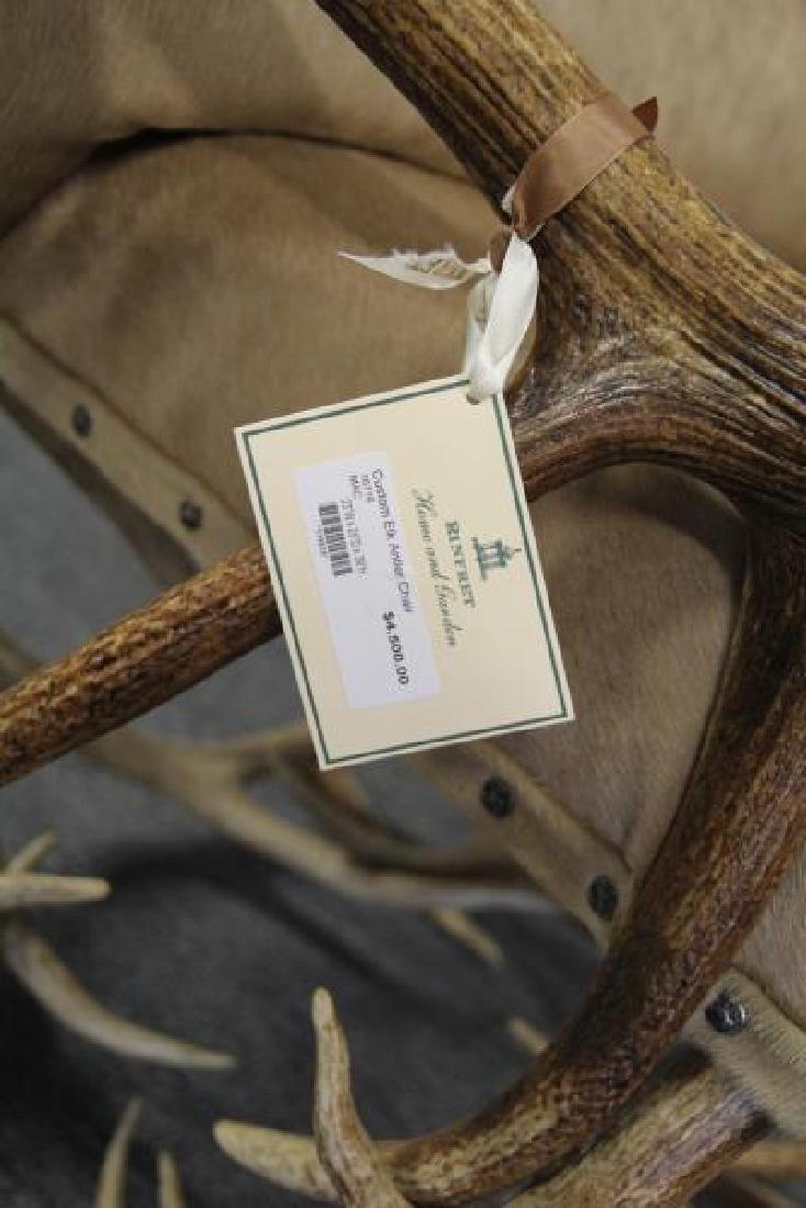 RINFRET. Custom Antler Chair with Hide - 3
