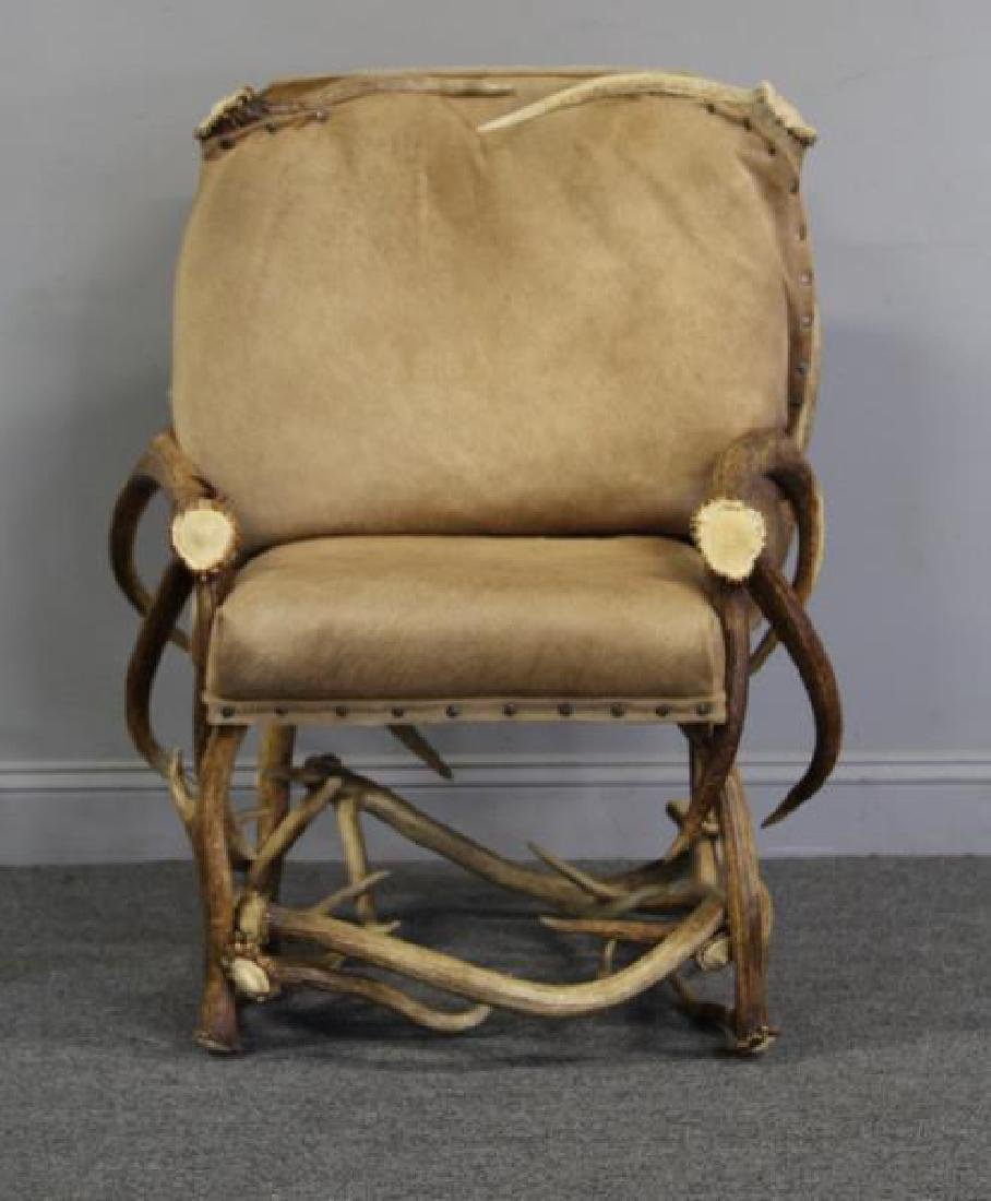 RINFRET. Custom Antler Chair with Hide - 5