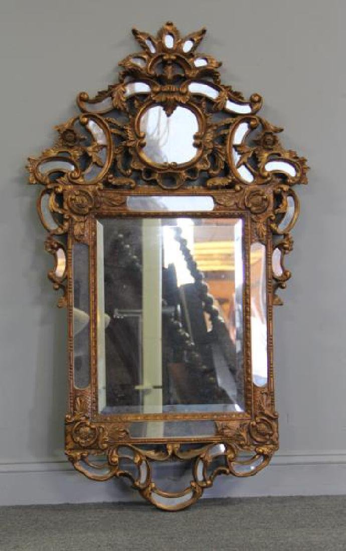 Venetian Style Roccocco Carved Giltwood Mirror