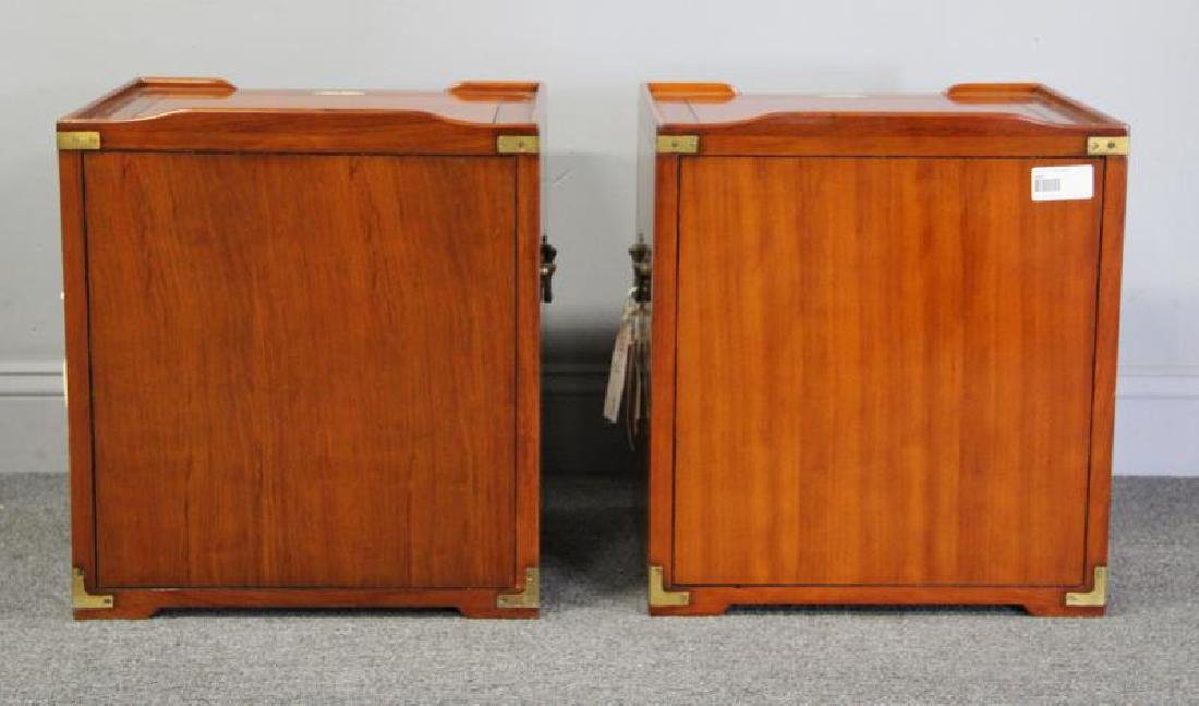 STARBAY. Pair of Campaign Style End Tables. - 4
