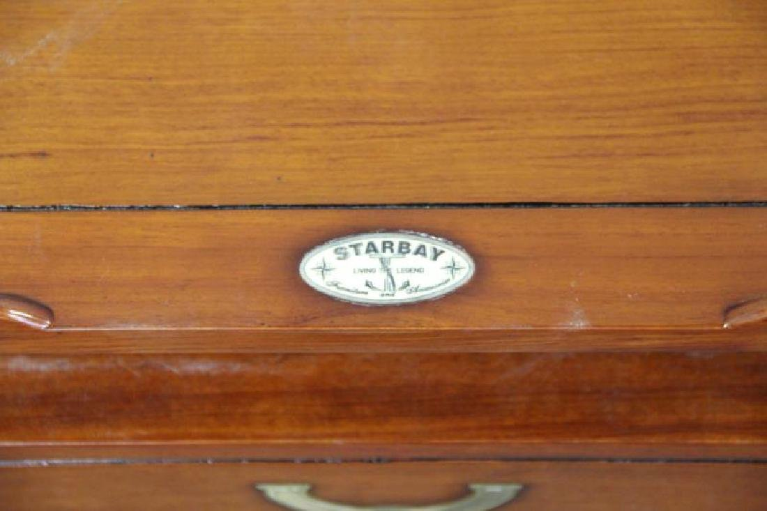 STARBAY. Pair of Campaign Style End Tables. - 5