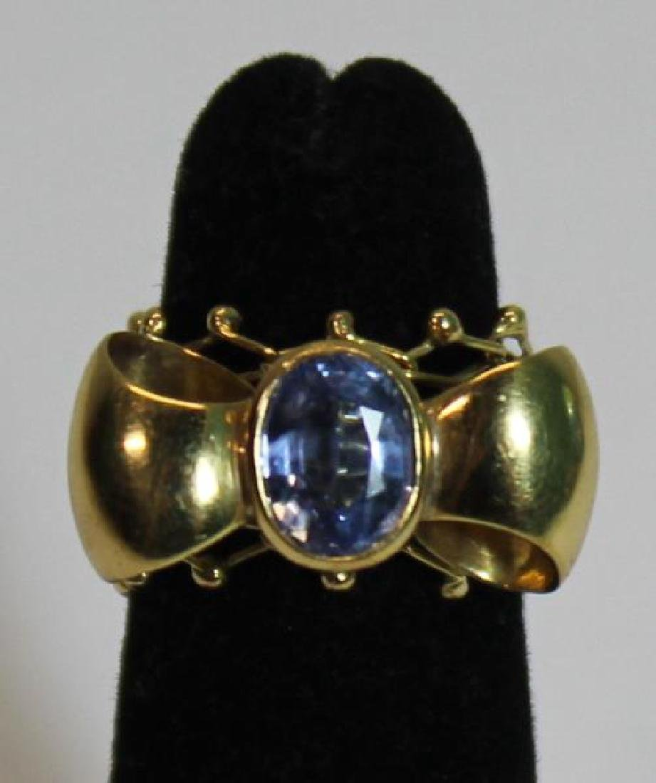 JEWELRY. Signed Italian 18kt Gold and Tanzanite? - 6