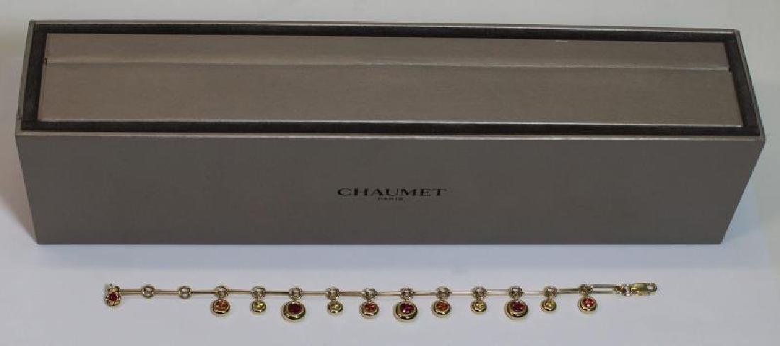 JEWELRY. Chaumet 18kt Gold and Sapphire