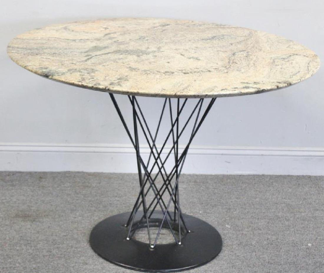 After Isamu Noguchi Marble Top Cyclone Table.