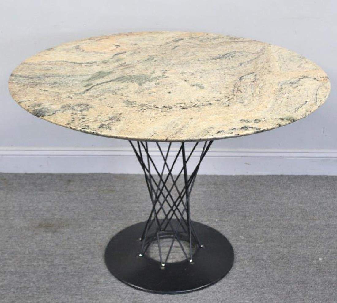 After Isamu Noguchi Marble Top Cyclone Table. - 2