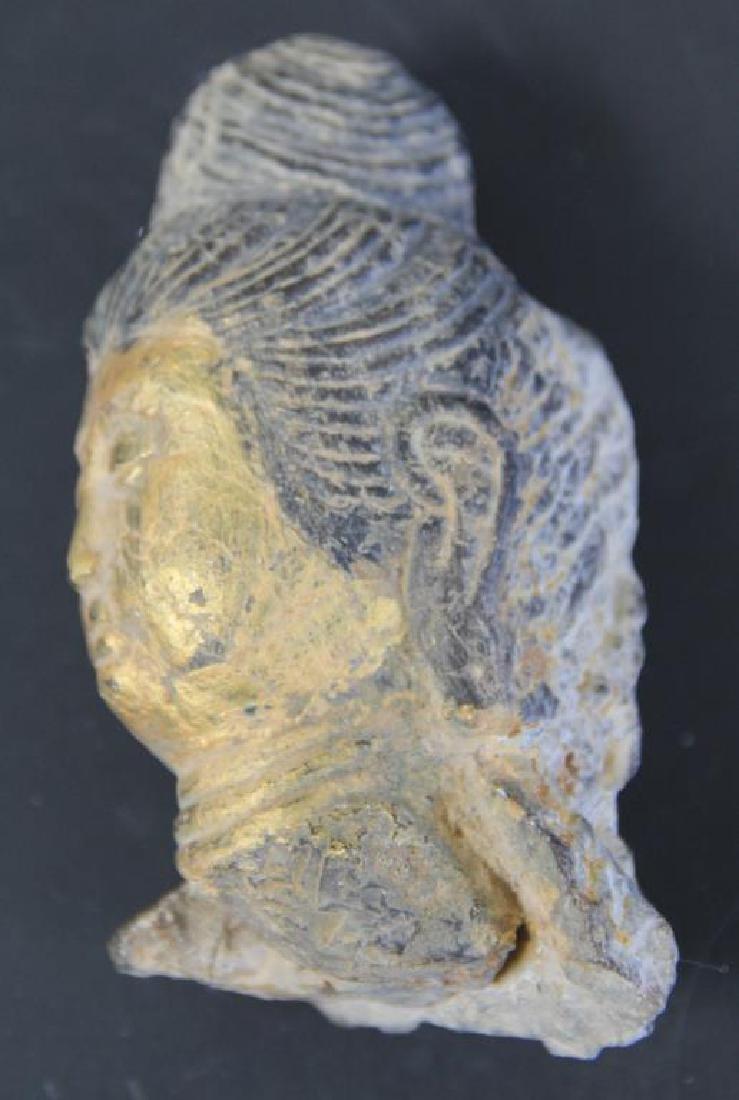 Pair of Stone Buddha Heads. - 3