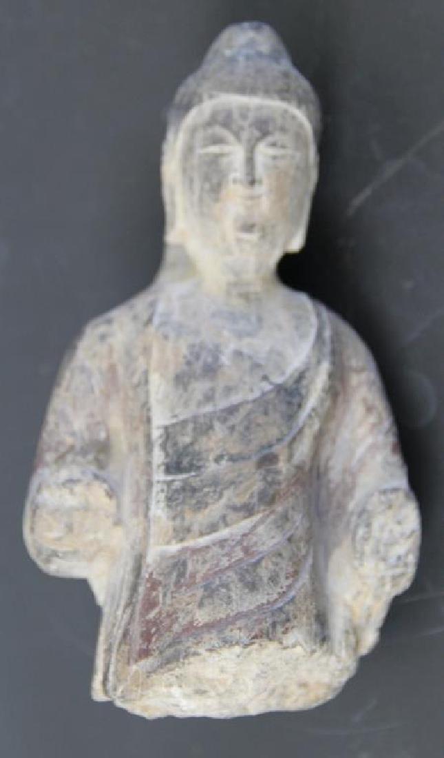 Pair of Stone Buddha Heads. - 6