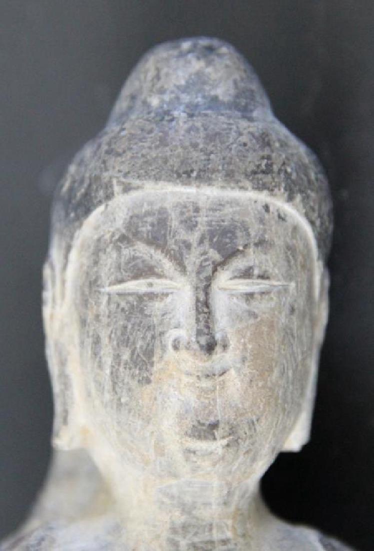 Pair of Stone Buddha Heads. - 7