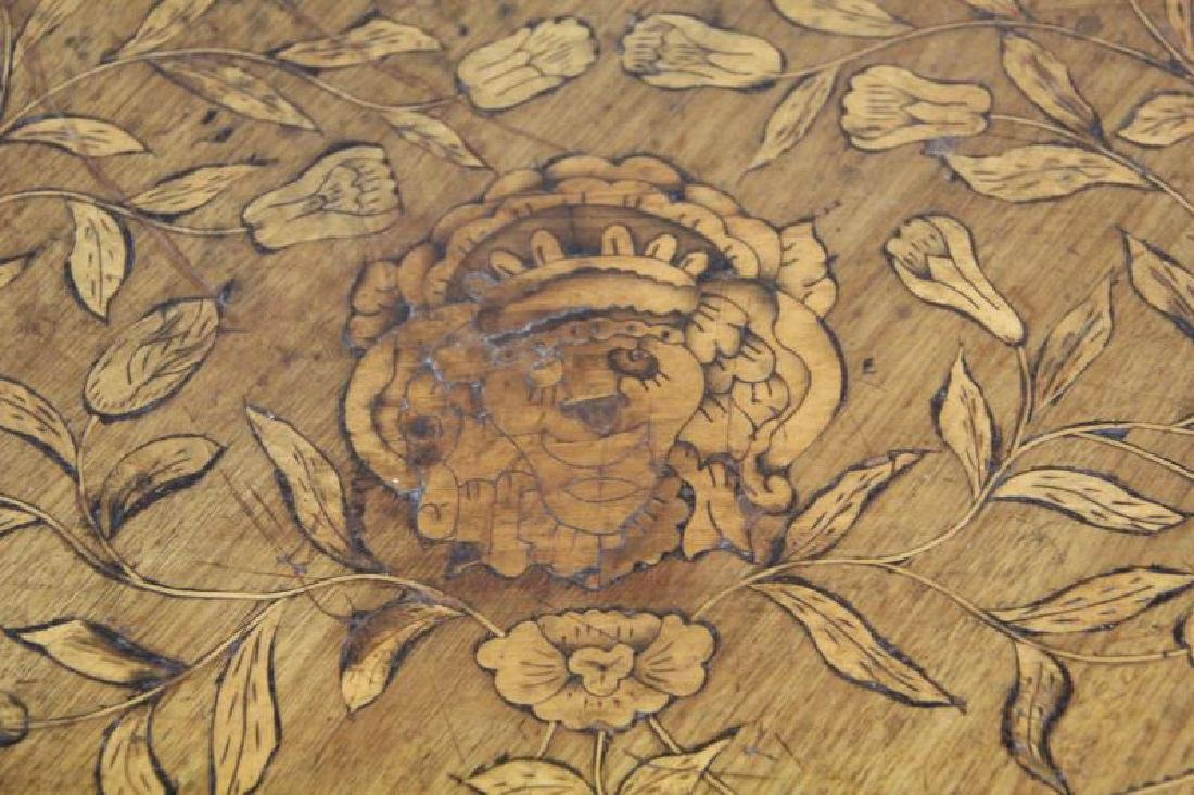 19 Century Dutch Marquetry Inlaid Center Table - 4