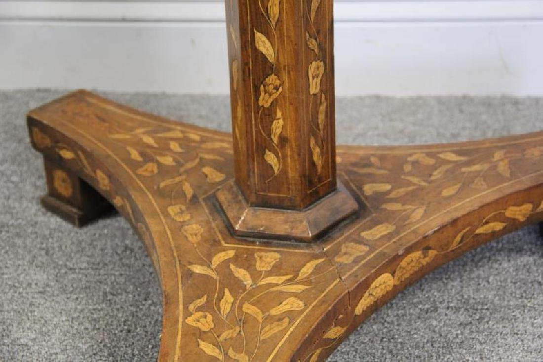 19 Century Dutch Marquetry Inlaid Center Table - 5