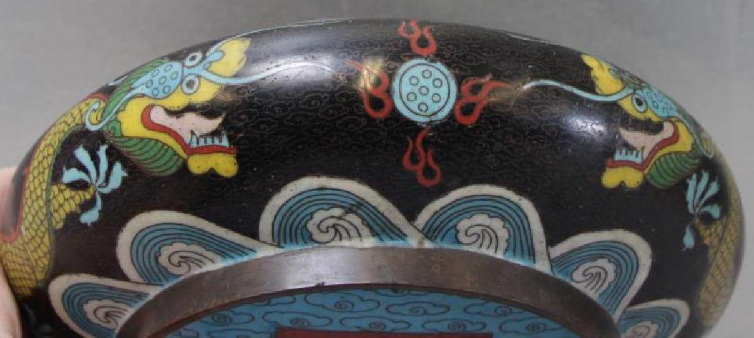 Chinese Enamel Decorated Vase Together With A - 4