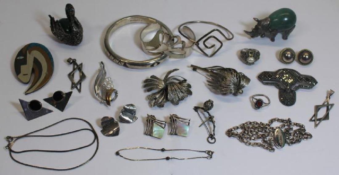JEWELRY. Assorted Silver Jewelry and Accessories.