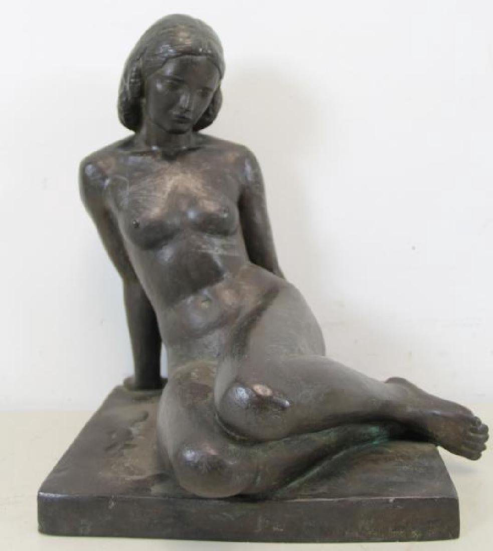After Paul Manship Signed Bronze Of A Nude Beauty.
