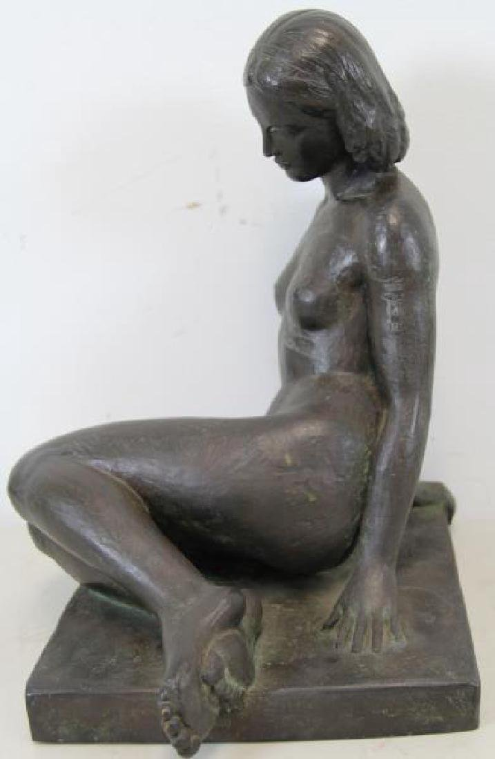 After Paul Manship Signed Bronze Of A Nude Beauty. - 5