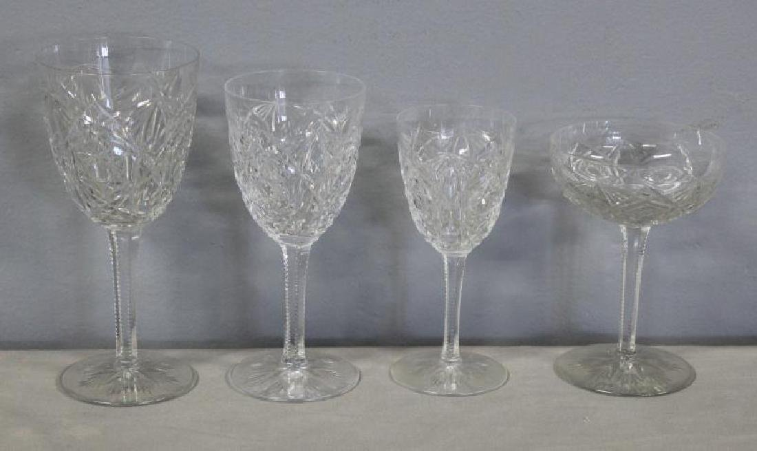 Baccarat Lagney Crystal Stemware and Decanter. - 2