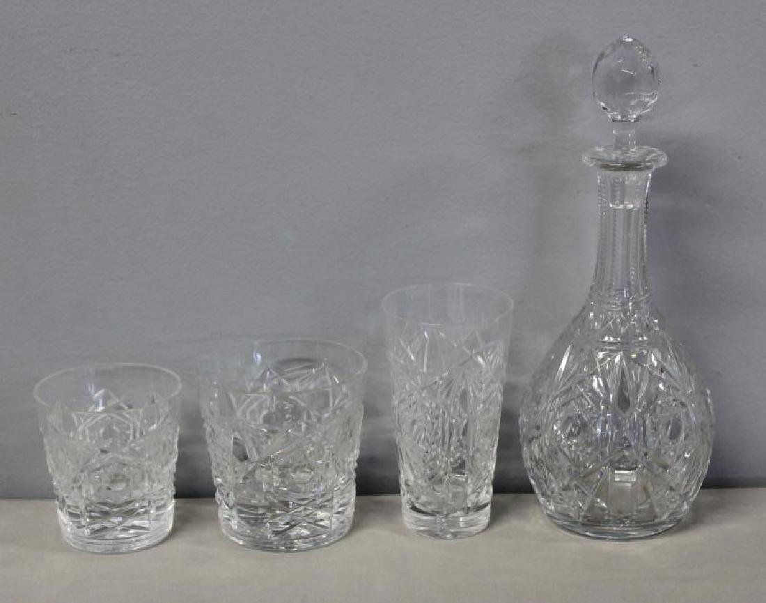 Baccarat Lagney Crystal Stemware and Decanter. - 4