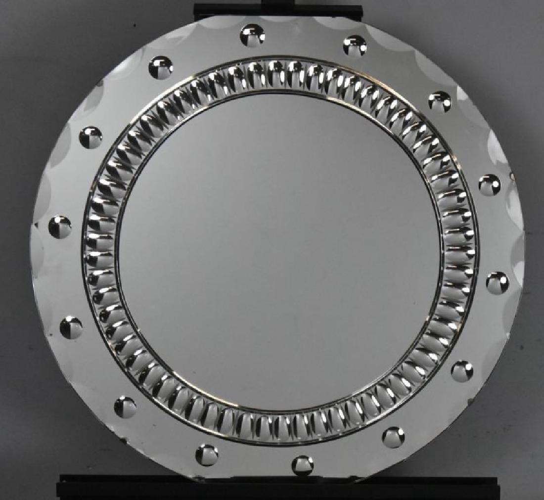 Art Deco Bulls Eye Mirror.
