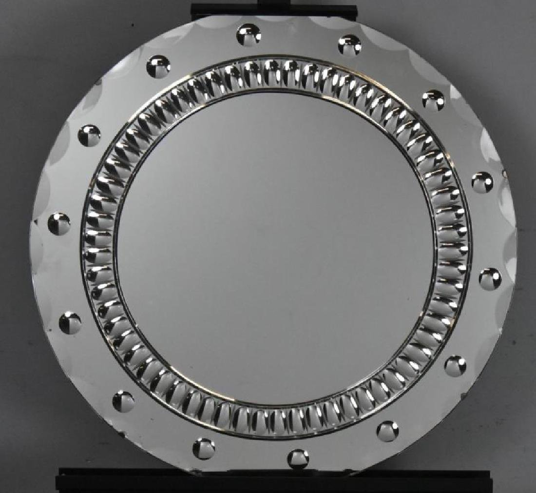 Art Deco Bulls Eye Mirror.
