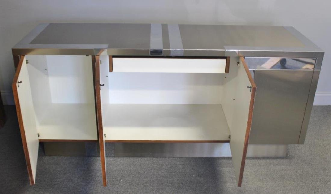 Midcentury Chrome and Stainless Steel Sideboard. - 2