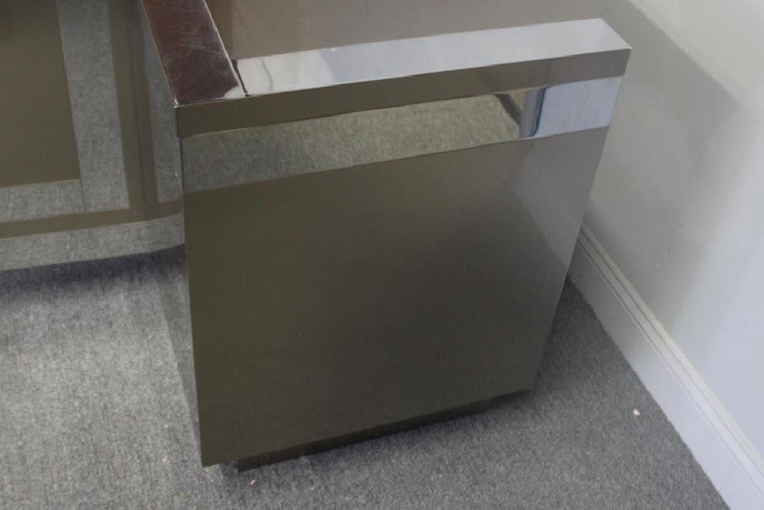 Midcentury Chrome and Stainless Steel Sideboard. - 3