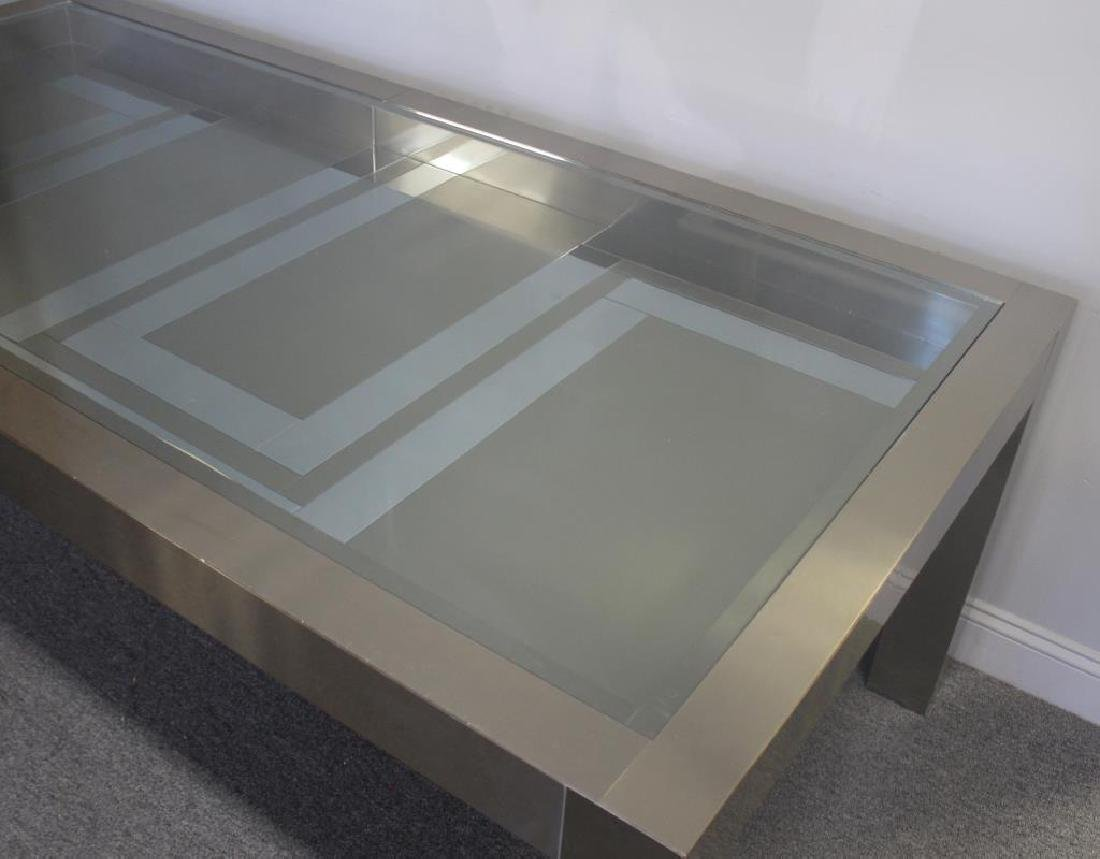 Midcentury Chrome and Stainless Steel Dining Table - 2