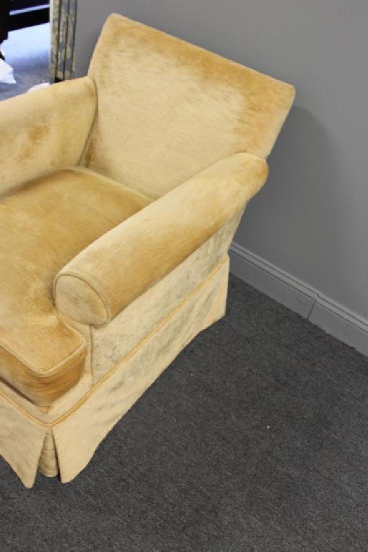 Pair Of Custom Quality Velvet Upholstered Club - 4
