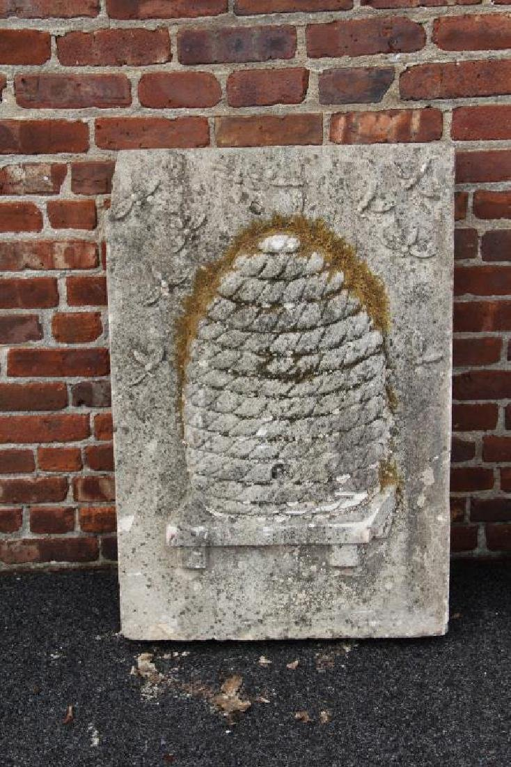 2 Stone Architectural Elements with Bee Hive - 2