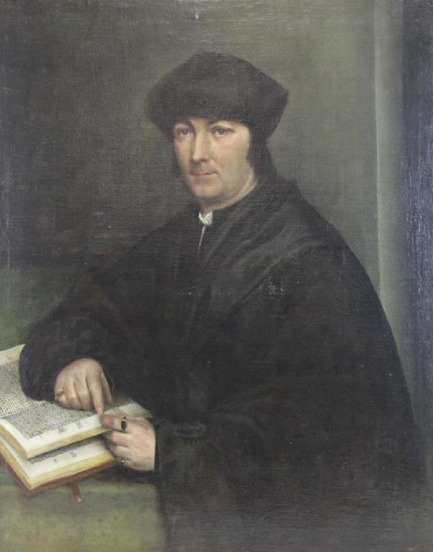 19th C. Oil on Canvas. Portrait of a Priest.