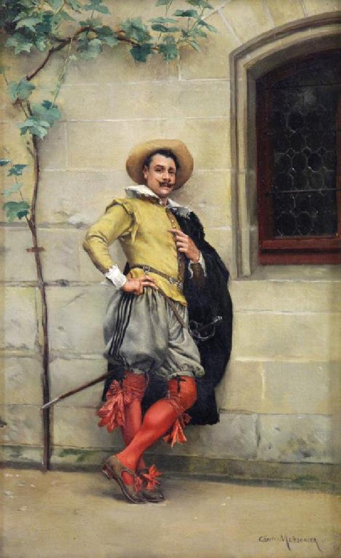 MEISSONIER, Jean Charles. Oil on Canvas. Cavalier.