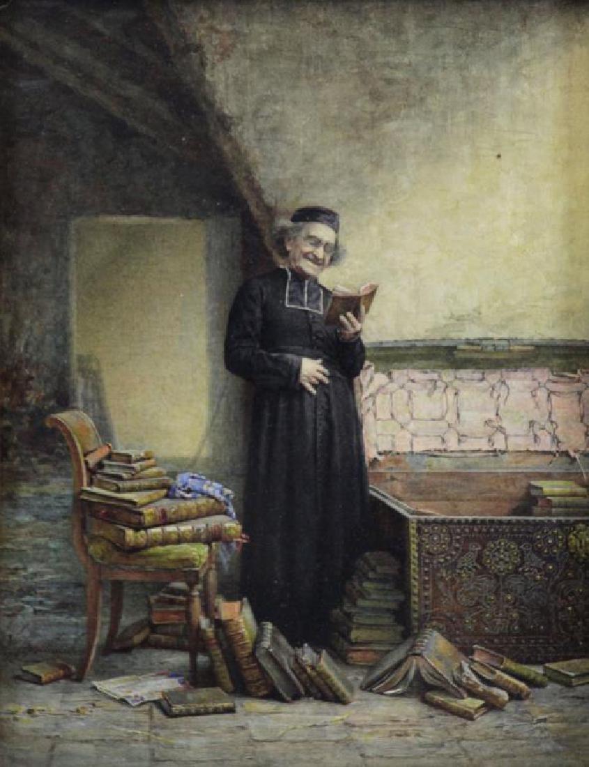 """CHEVILLIARD, Vincent. Watercolor.  """"A Rare Find"""""""