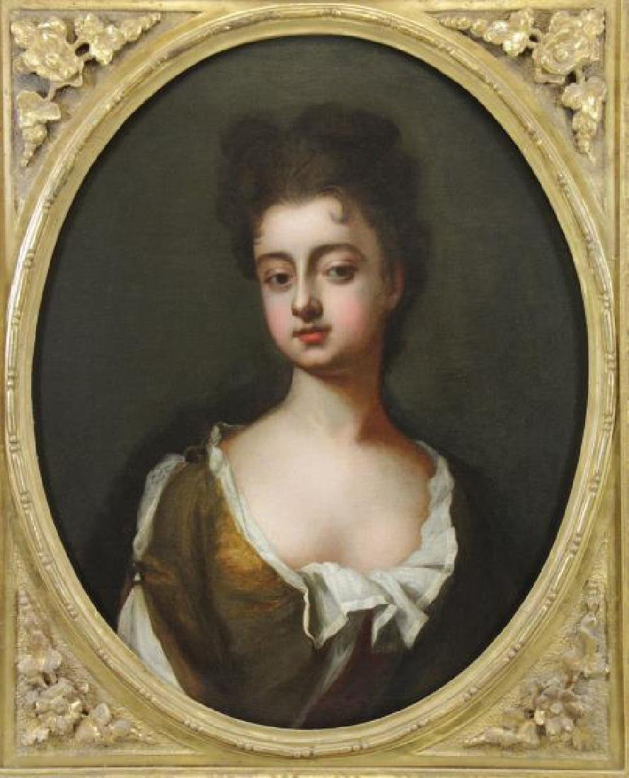 19th C. Oil on Canvas Portrait of a Lady.